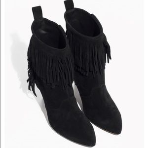 & other stories fringe ankle boots black US 9